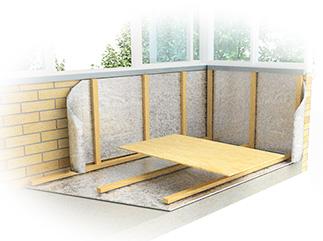 Остекление, отделка и утепление балконов - окна строй.