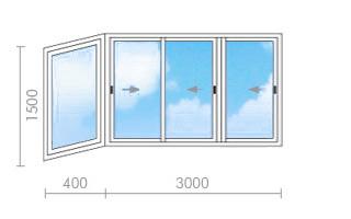 Застеклить балкон в доме серии ii-49.