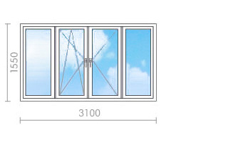 Цена на остекление балконов (лоджий) в копэ - окна строй.