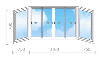 Цена на остекление балкона в ii-29 - окна строй.