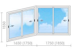 Цена на остекление балконов (лоджий) в п-44т - окна строй.