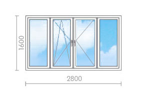 Цена на остекление балкона в п-46 - окна строй.