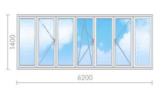 Цена на остекление балкона в и-700a - окна строй.